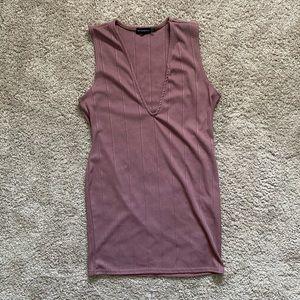 PrettyLittleThing Dusty Rose Dress